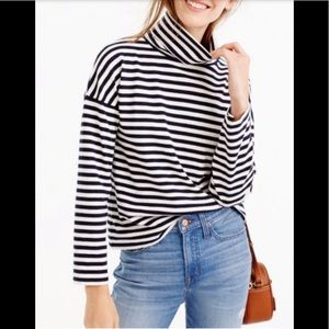 J Crew oversized striped turtleneck